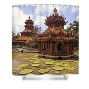 Phra Kaew Pavillion Shower Curtain