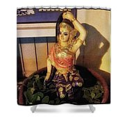 Phra Mae Thorani. Holy Mother Of Earth Shower Curtain