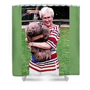 Phyllis Holding Thirty Lb Wombat Australia Shower Curtain