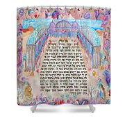 Physician Prayer- Hebrew Version Shower Curtain