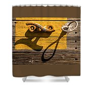 Pi Theta Shadows - Dock Cleat And Rope Shower Curtain