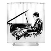 Pianist Shower Curtain