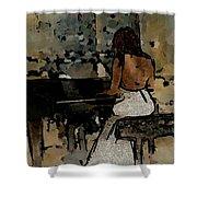 Pianist #0077 Shower Curtain