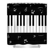 Piano And Music Background Shower Curtain
