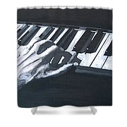 Piano Hands Plus Metronome Shower Curtain