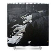 Piano Hands Shower Curtain