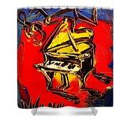 Piano Music Jazz Shower Curtain