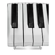 Piano Octave  Bw Shower Curtain