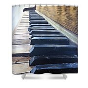 Piano Perspective Shower Curtain