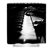 Piano Player Shower Curtain by Scott Sawyer