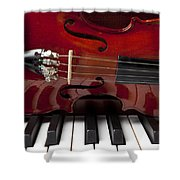 Piano Reflections Shower Curtain