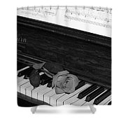 Piano Rose Shower Curtain