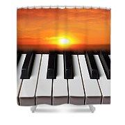 Piano Sunset Shower Curtain