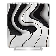 Piano Surrealism  Shower Curtain
