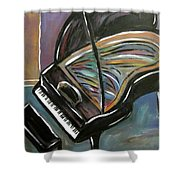 Piano With High Heel Shower Curtain