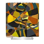 Pianoman Revisited Shower Curtain