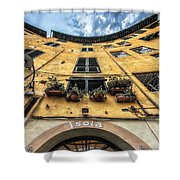 Piazza Dell'anfiteatro, Lucca, Italy Shower Curtain