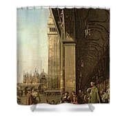 Piazza Di San Marco And The Colonnade Of The Procuratie Nuove Shower Curtain