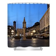 Piazza Erbe Verona Shower Curtain