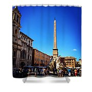 Piazza Navona 2 Shower Curtain