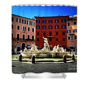 Piazza Navona 4 Shower Curtain