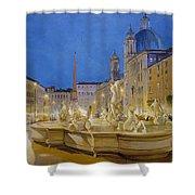 Piazza Navona, Rome Shower Curtain