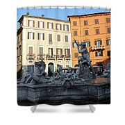 Piazza Navona Rome Shower Curtain