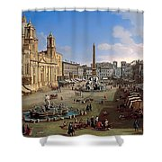 Piazza Novona - Rome Shower Curtain
