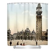 Piazza San Marco, 1890s Shower Curtain