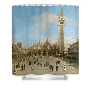 Piazza San Marco Looking Towards The Basilica Di San Marco  Shower Curtain