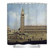 Piazza San Marco Venice  Shower Curtain by Canaletto