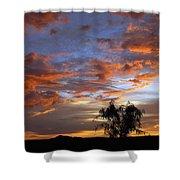Picacho Peak Sunset II Shower Curtain
