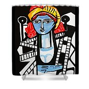 Picasso By Nora  Film Star Shower Curtain