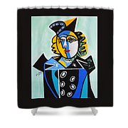 Picasso By Nora  The Queen Shower Curtain