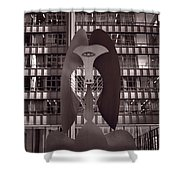 Picasso Chicago Bw Shower Curtain