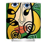 Picasso Influence Shower Curtain