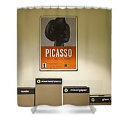 Picasso Poster Shower Curtain