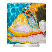 Picasso Trigger Face Shower Curtain