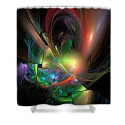 Picassoractal Shower Curtain