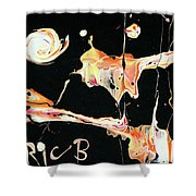 Picassos In Space Shower Curtain