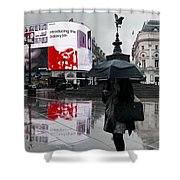 Piccadilly In The Rain Shower Curtain