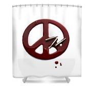 Peace Talks Shower Curtain