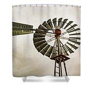 Piceance Basin Windmill Shower Curtain