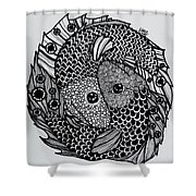 Pices Shower Curtain