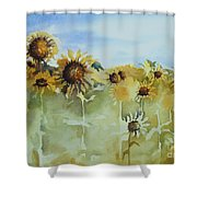 Pick Me Shower Curtain by Gretchen Bjornson