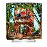 Pickel Barrel 2 Chattanooga Tennessee Cityscape Art Shower Curtain