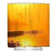 Pickerel Sunrise Shower Curtain
