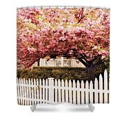 Picket Fence Charm Shower Curtain
