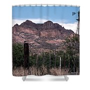 Picket Post Mountain Shower Curtain