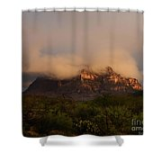 Picket Post Sun Ray Clouds Shower Curtain